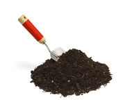 Shovel and Dirt Stock Images