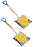 Shovel dollar money Stock Photos