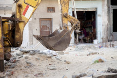 Shovel excavator. In the building site Stock Photography