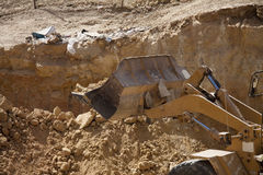 Shovel excavator Stock Photo