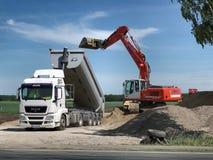 Dumptor dumping gravel. royalty free stock image