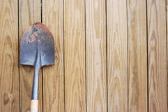 Shovel on a Fence Stock Photography