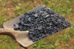 Shovel Full of Coal Royalty Free Stock Image