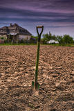 Shovel in the garden Stock Photography