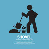 Shovel And Gardener Symbol Stock Photography