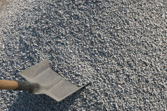 Shovel and gravel Stock Photos