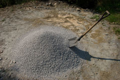 Shovel and gravel Stock Images