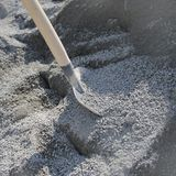 Shovel and gravel for construction Royalty Free Stock Images