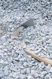Shovel and gravel Stock Photo