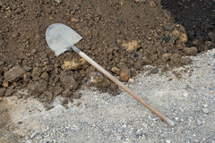 Shovel on the ground Stock Photo