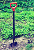 Shovel in the ground Royalty Free Stock Photo