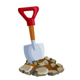 Shovel in ground Stock Image