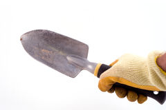 Shovel hand Stock Photo