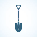 Shovel icon flat design Stock Photo