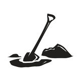 Shovel icon Stock Photography