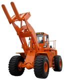 Shovel loader. With orange color isolated on white Royalty Free Stock Images
