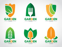 Shovel logo for agricultural and gardening vector set design Stock Image