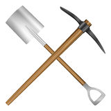 Shovel and mattock Stock Image