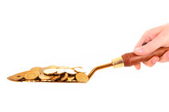 Shovel with money Stock Photography