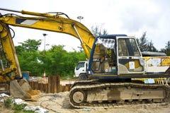 Shovel mud machine Stock Photo