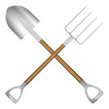 Shovel and pitchfork Stock Photos