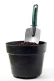 Shovel on Pot Royalty Free Stock Image
