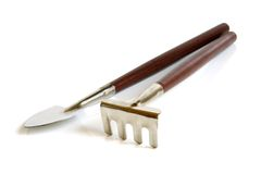 Shovel and rake Royalty Free Stock Photos