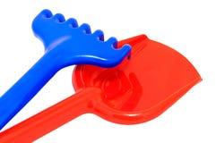 Shovel and rake Stock Image