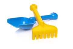 Shovel and rake Stock Images
