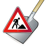 Shovel road works Royalty Free Stock Photography