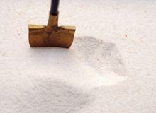 Shovel in a sand Royalty Free Stock Photo