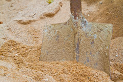 Shovel and sand Royalty Free Stock Photography