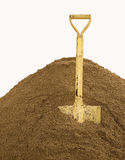Shovel on sand Stock Image