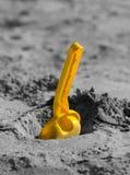 Shovel in the sandbox Stock Photo