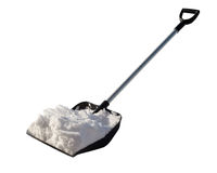Shovel snow. Shovel for cleaning of snow with the snow Royalty Free Stock Photos