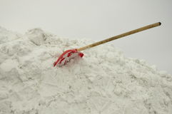 Shovel in the snow. royalty free stock images