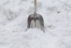 Shovel in the Snow Stock Photography