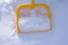 Shovel snow winter Royalty Free Stock Photo
