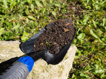 Shovel with soil Royalty Free Stock Photos