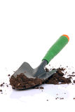 Shovel and soil Royalty Free Stock Image