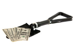 Shovel to the dollar Stock Images