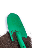 Shovel tool on soil Royalty Free Stock Photo