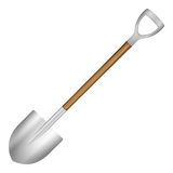 Shovel. On a white background Royalty Free Stock Image