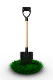 Shovel on white background. garden tool Stock Photography
