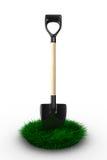 Shovel on white background. garden tool Stock Photography