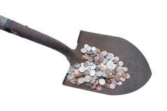 Shoveling money Stock Photo