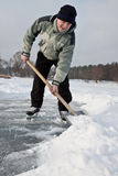 Shoveling snow. Stock Images