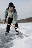 Shoveling snow. Royalty Free Stock Image