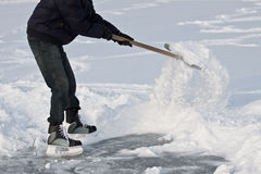Shoveling snow. Stock Photo