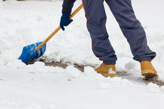 Shoveling snow royalty free stock photo